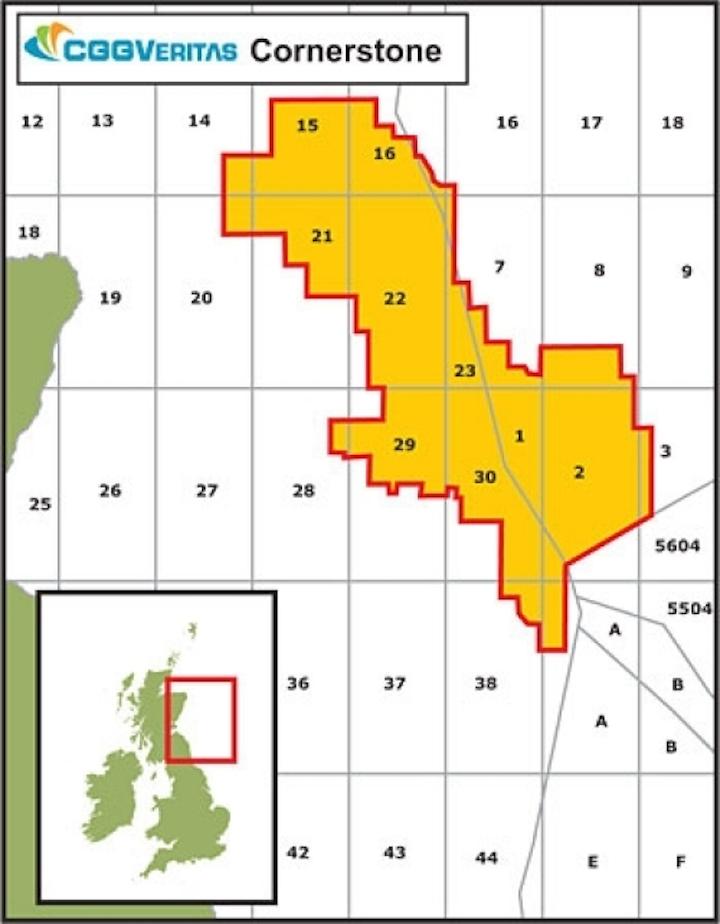 CGG's Cornerstone North Sea coverage