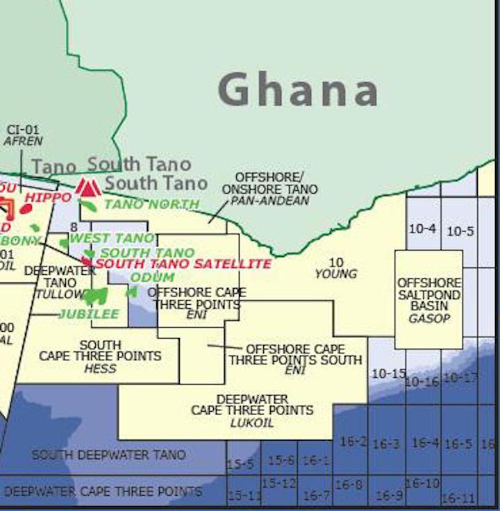 Offshore Ghana map