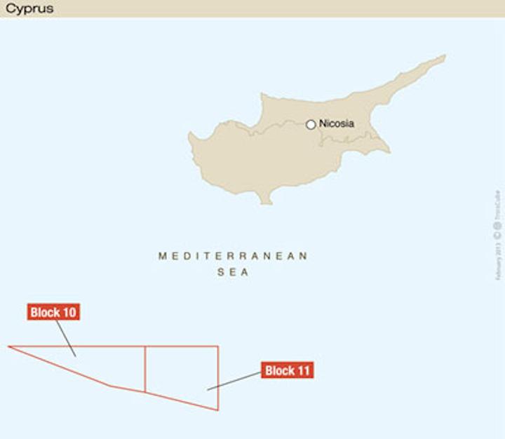 Total deepwater blocks offshore Cyprus