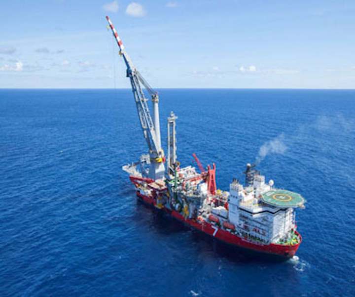 South Pars Phase 19 pipelay