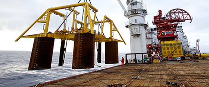 Installation of template at Vigdis North-East in 2011. (Photo: André Osmundsen)