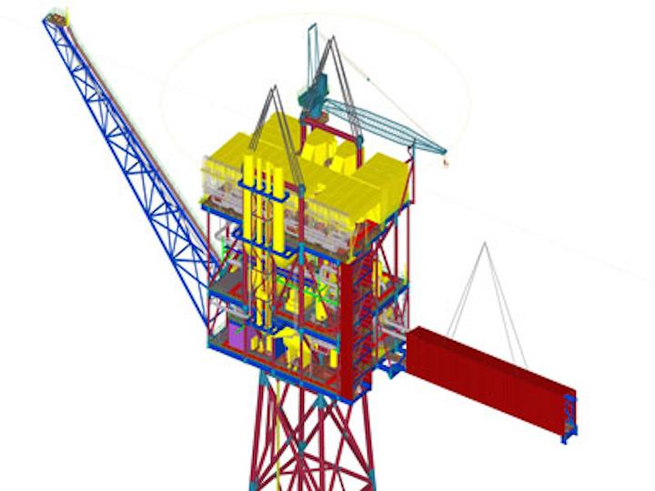 Alba PSC B3 gas compression platform