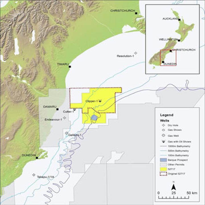 Canterbury basin offshore New Zealand