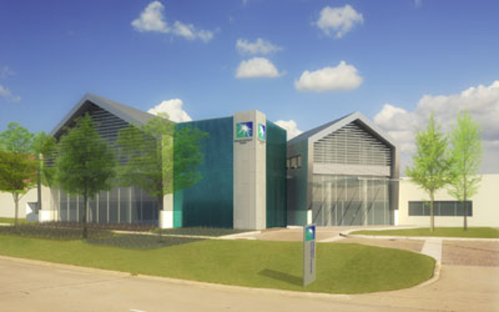 Artist rendering of the Saudi Aramco Houston Research Center