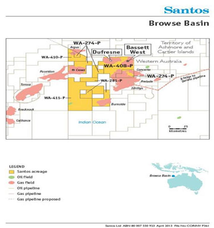 Santos Browse basin