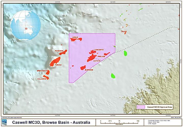 PGS Browse basin seismic survey area