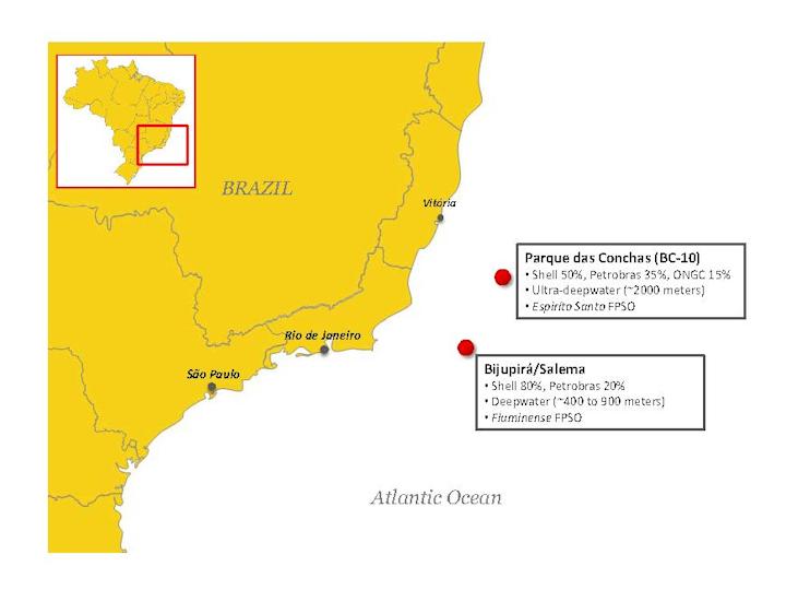 Shell Brazil map
