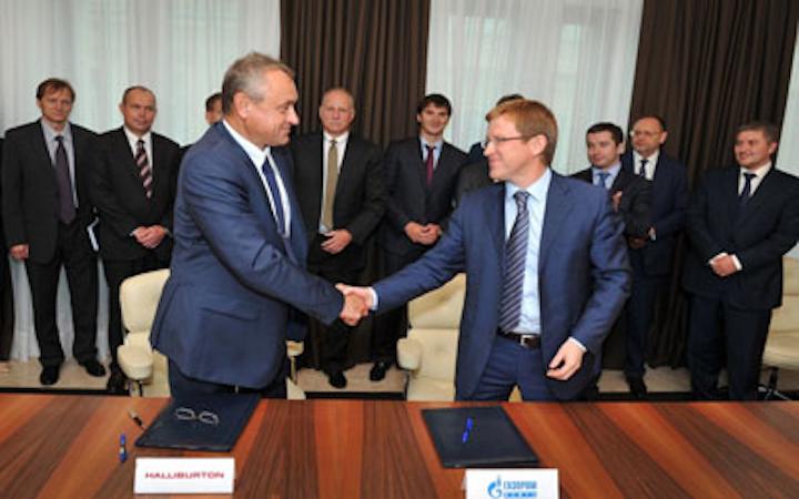 Halliburton and Gazprom Neft