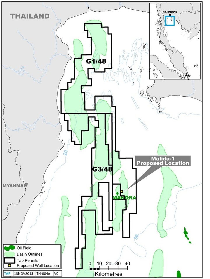 Proposed Location of Malida-1 Well