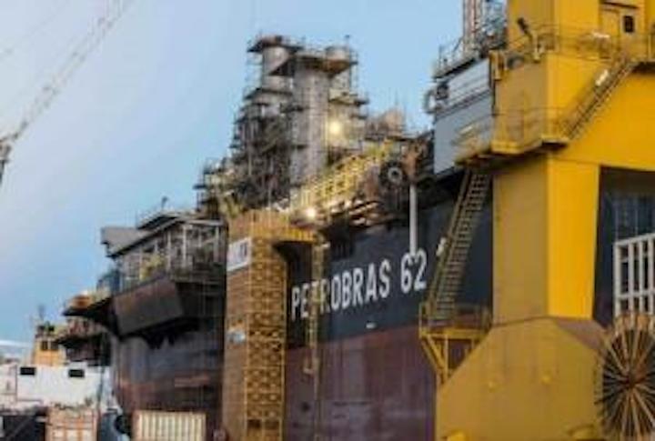 FPSO P-62, docked at EAS. Source: Petronoticias - Brazil