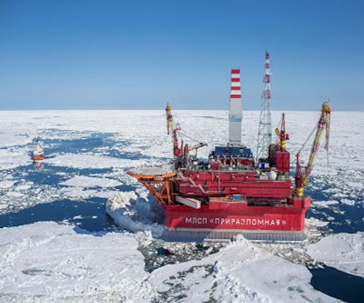 Prirazlomnaya offshore ice-resistant stationary platform