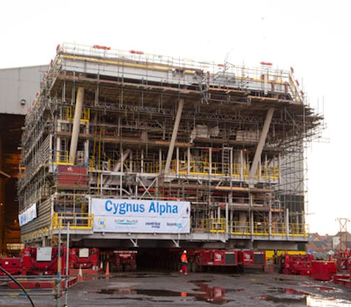 Cygnus Alpha platform Heerema's fabrication yard
