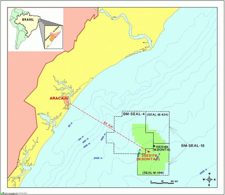 Moita Bonita area of Sergipe-Alagoas basin