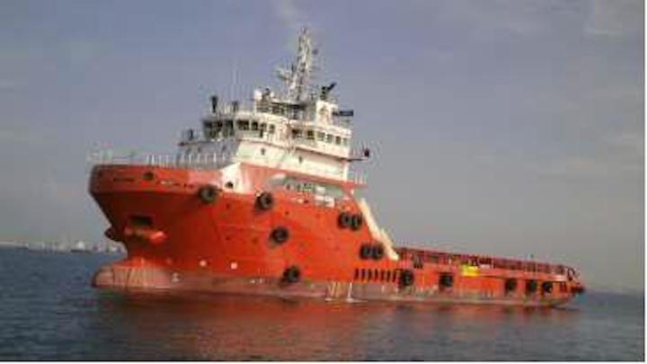 Vallianz platform supply vessel
