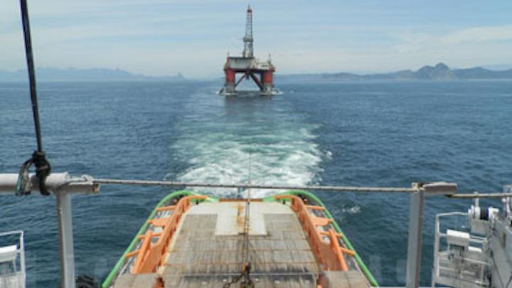 ENSCO 5004 semisubmersible drilling rig