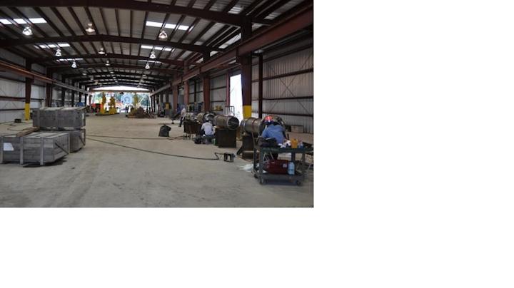 New Industries Inc. piping fabrication shop in Morgan City, Louisiana