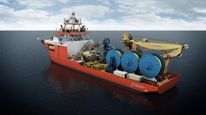 Rendering of the Normand Pacific outfitted for Ceona installation.