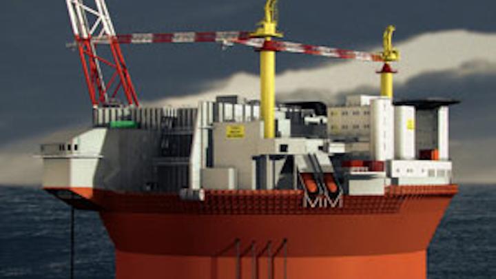 Cylindrical Sevan 1000 FPSO for Goliat oil field