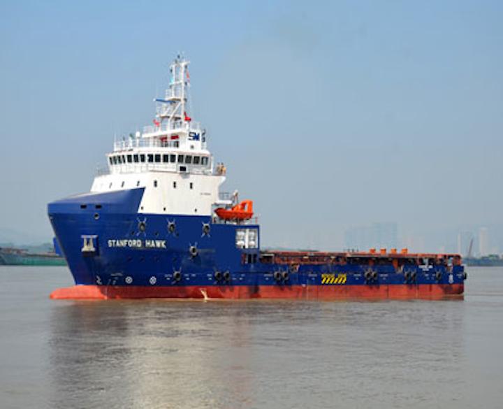 Stanford Marine's platform supply vessel Stanford Hawk