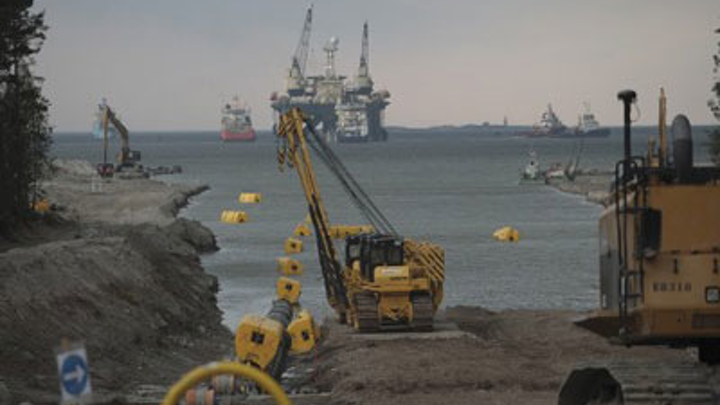 Nord Stream gas pipeline construction