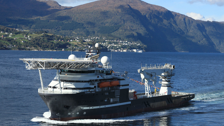 Olympic Ares, on charter to Bibby Offshore