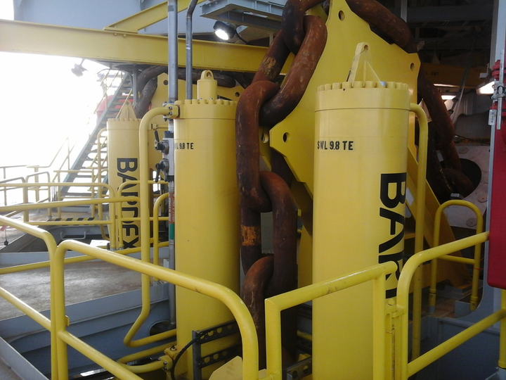 Bardex has supplied chain jacks for the Jack/St. Malo FPU in the Gulf of Mexico.