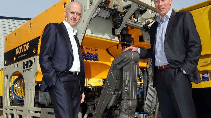 Scott Macknocher, managing director of Ennsub (left) with Barry Stewart, director and general manager at ROVOP