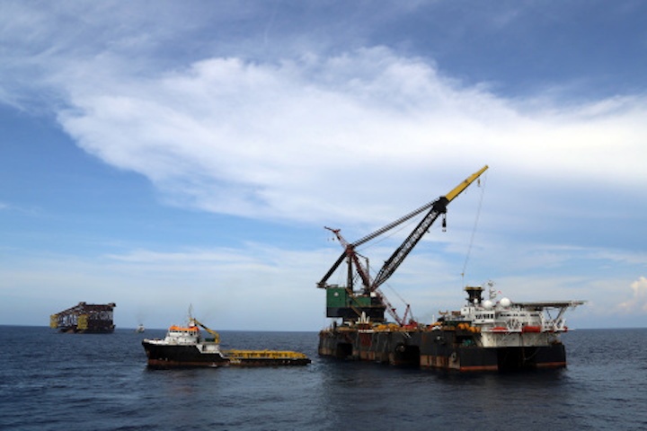McDermott's Derrick Barge 101 has mobilized to Indonesia.