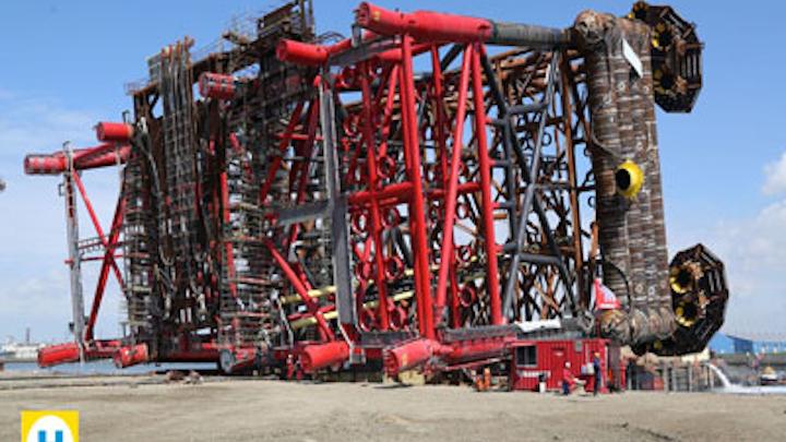 Hejre oil and gas field platform jacket