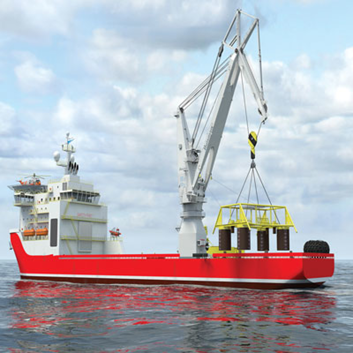 900-ton rope luffing knuckle boom crane for Subsea 7's Seven Arctic