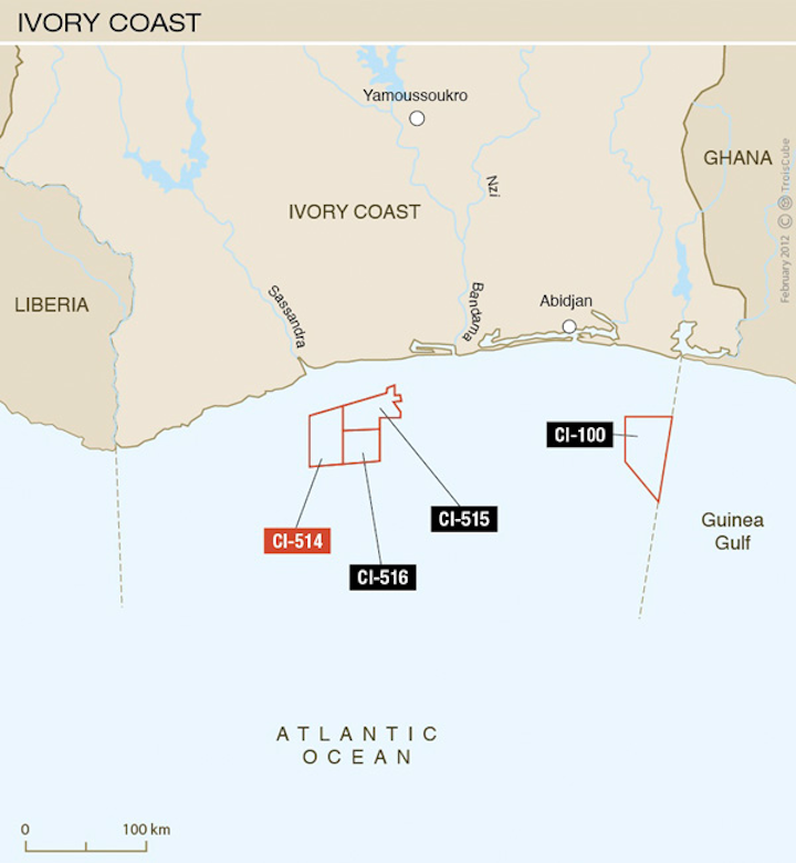 Total has confirmed oil in its Ivory Coast exploration area.