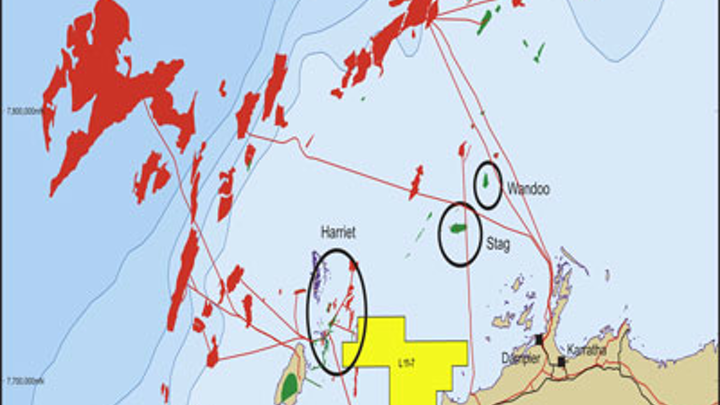 Barrow Sub basin offshore northwest Australia