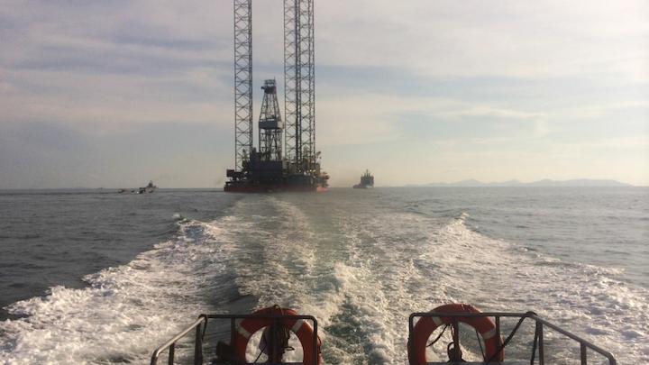 The UMW Naga 5 jackup rig has arrived at the Baragatan-1 well offshore Palawan, Philippines.