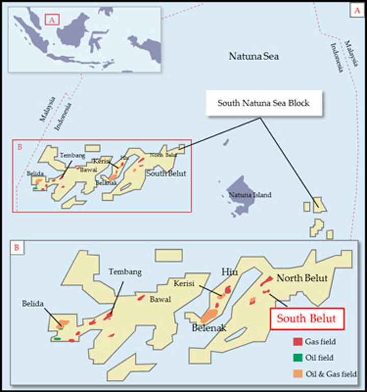 South Belut offshore Indonesia