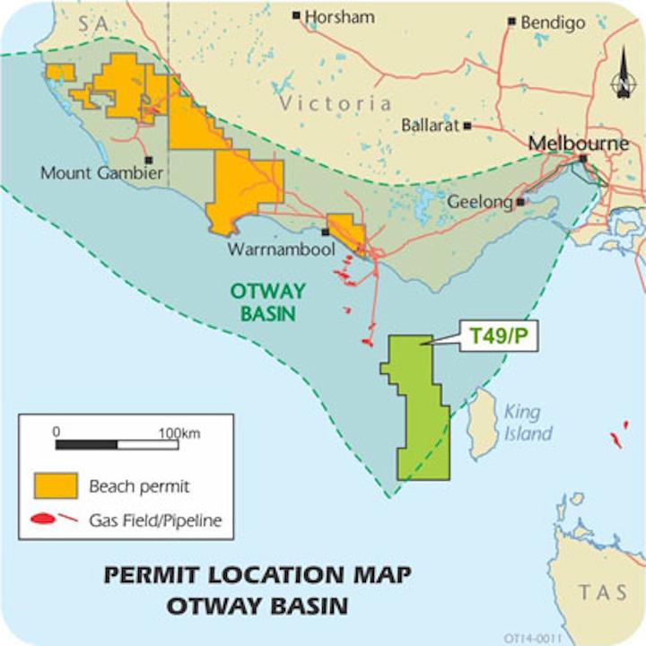 Beach Energy Otway basin offshore Australia