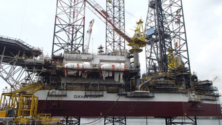 Gulf Drilling International's newbuild jackup Dukhan
