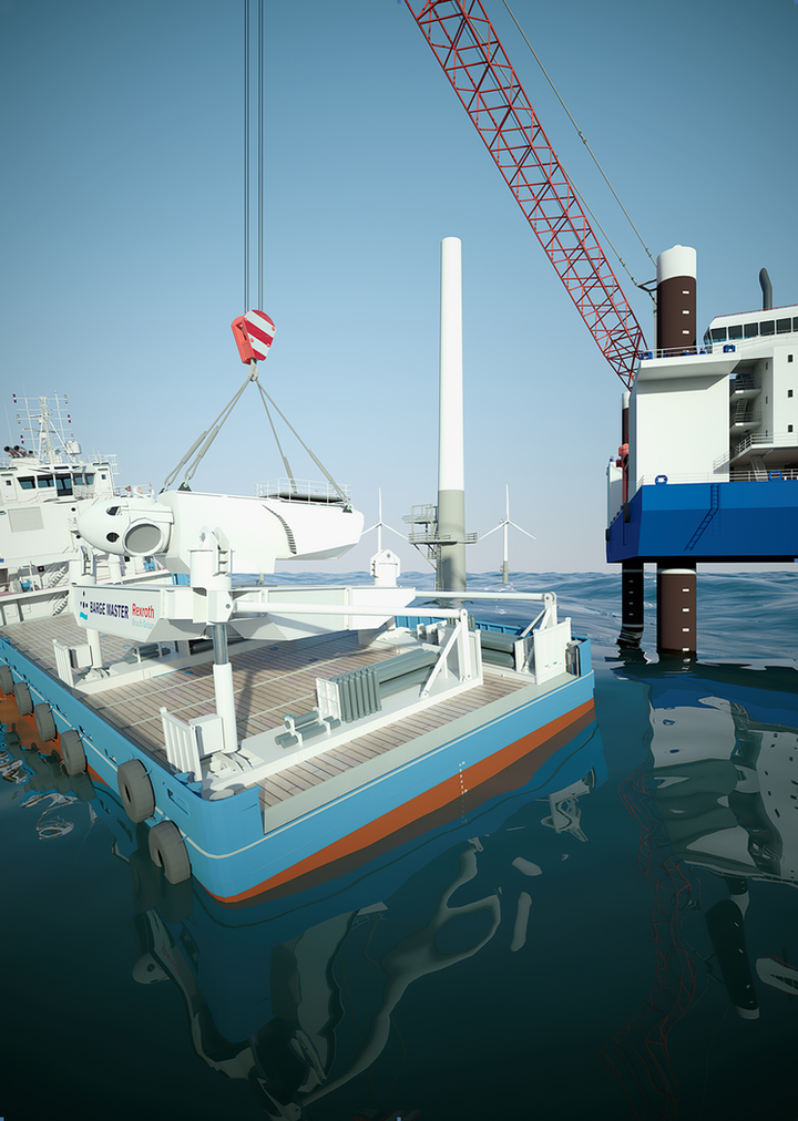 The first Barge Master platform has recently been built, with a 700-ton load capacity.