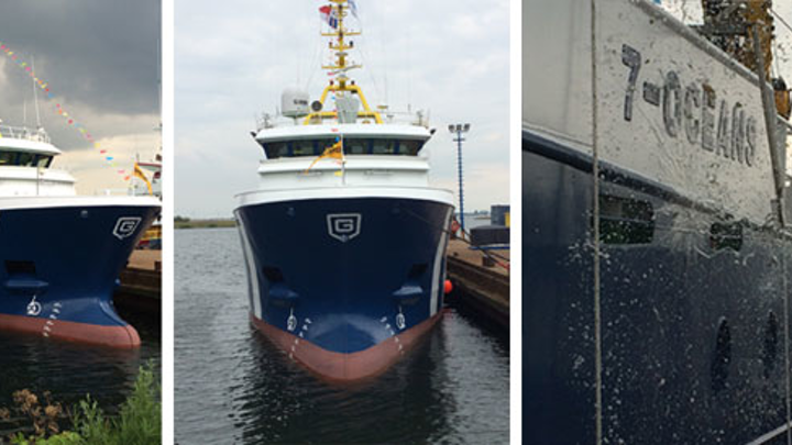 The 7-Oceans newbuild seismic guard vessel will soon be operating in the Barents Sea.