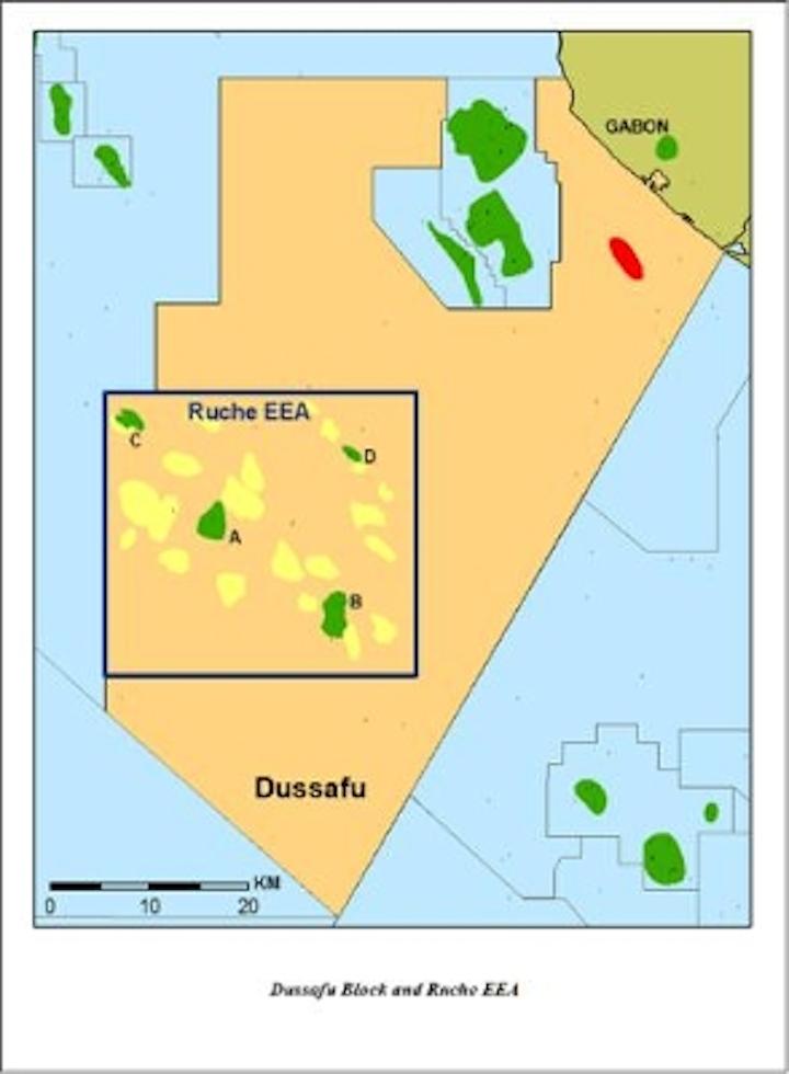 Harvest Natural Resources Dussafu block offshore Gabon