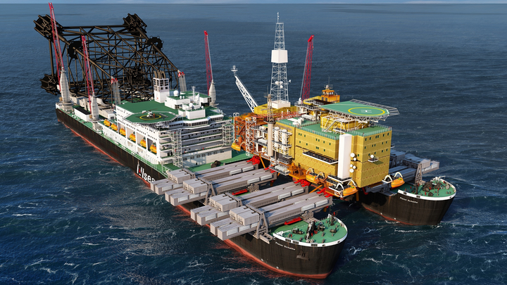 The Pieter Schelte is to be completed in the port of Rotterdam.