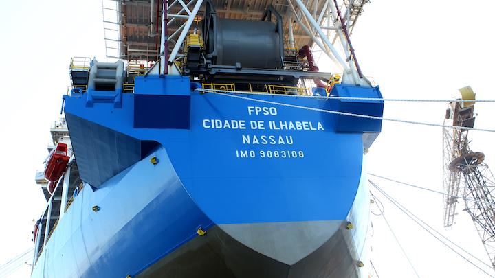 FPSO bound for presalt offshore Brazil