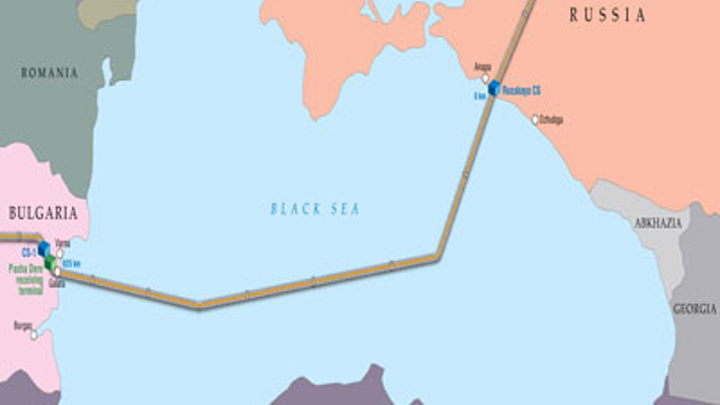 South Stream deepwater gas pipeline Turkish route through Black Sea