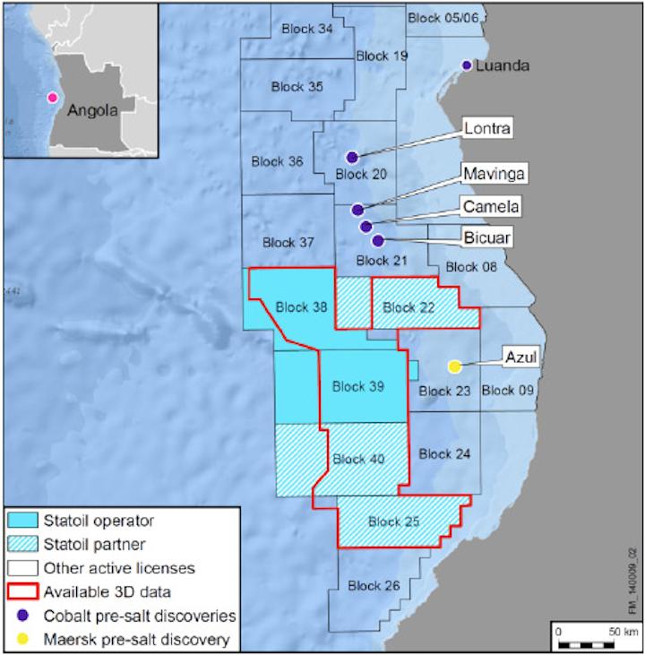 Statoil is adjusting its portfolio in Angola.