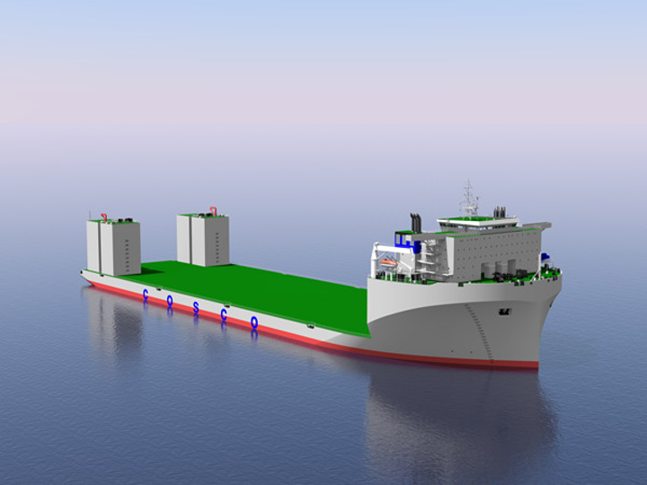 COSCOL has ordered the construction of a new 90,000-DWT semisubmersible heavy-lift vessel.