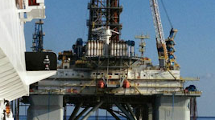 Ocean Sky tending to Noble drill rig John Day during blackout trials