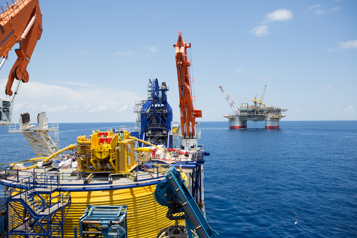 The North Ocean 102 construction vessel has contributed to the work on the Jack and St. Malo project in the Gulf of Mexico.