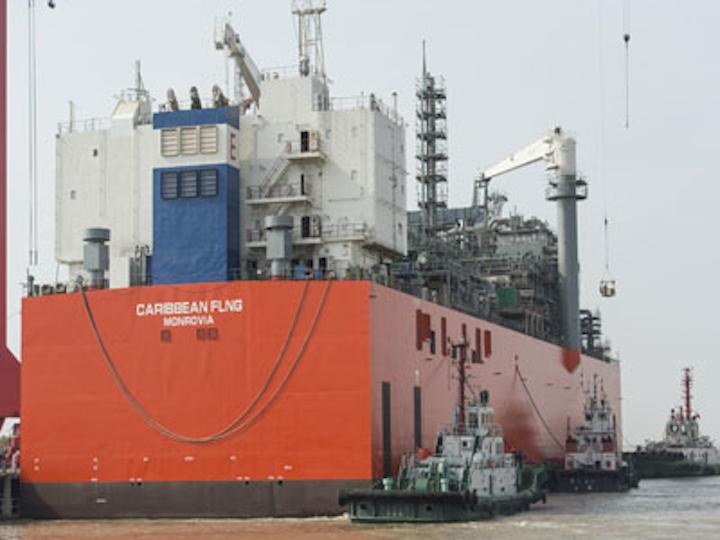 Colombia FLNG vessel