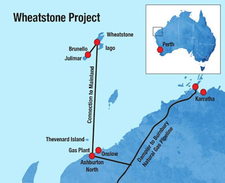 Chevron's Wheatstone project offshore Western Australia