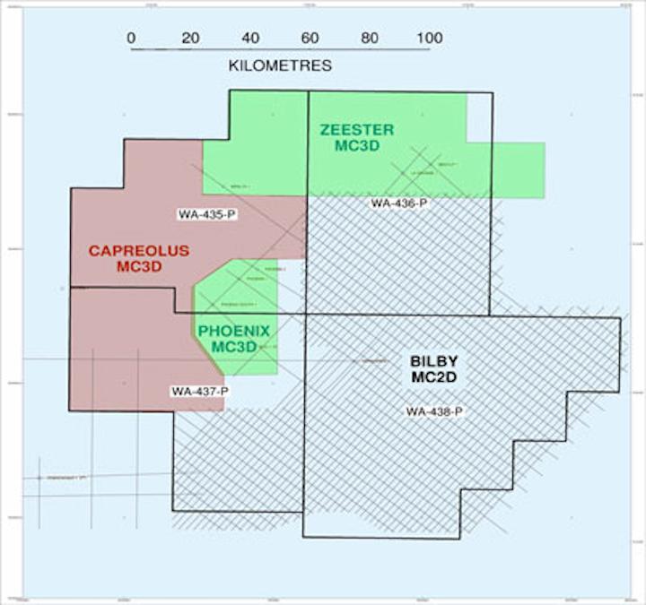 Carnarvon Petroleum's seismic surveys offshore Australia