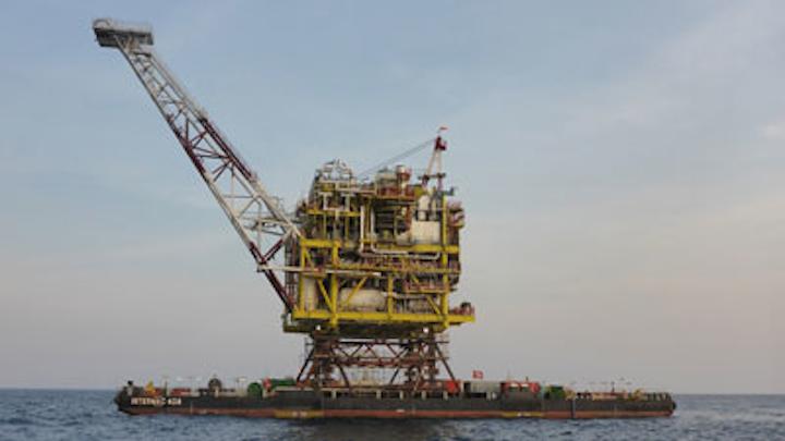 Kepodang gas field offshore Indonesia